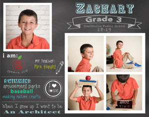Back to School Templates -  Individual and 4 box grids included