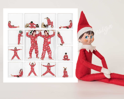 Elf with a 9 box White Grid template - 2 sizes
