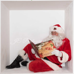 Santa In the Box  Reading a story