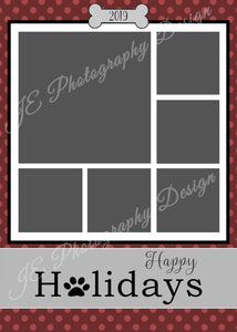 Happy Holidays Christmas Card - for 5x7