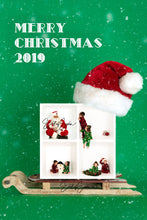 Load image into Gallery viewer, Single or 4 Box  Santa Hat and Sleigh Template