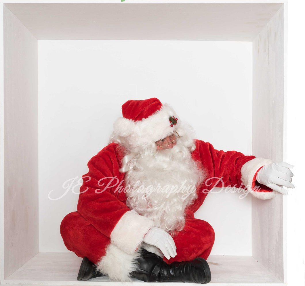 Santa in the box Peeking in on you