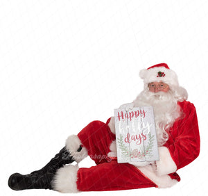 "Santa PNG Overlay ""Happy Holly Days"""