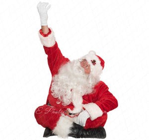 "Santa PNG Overlay ""reaching up"""