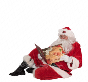 "Santa PNG Overlay ""Reading a story"""