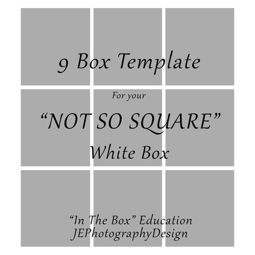 9 Box White grid Template - NOT SO SQUARE BOXES