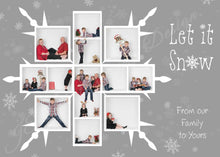 Load image into Gallery viewer, Snowflake White grid Christmas Template