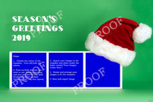 Load image into Gallery viewer, 3 Box Santa Hat Grid Template