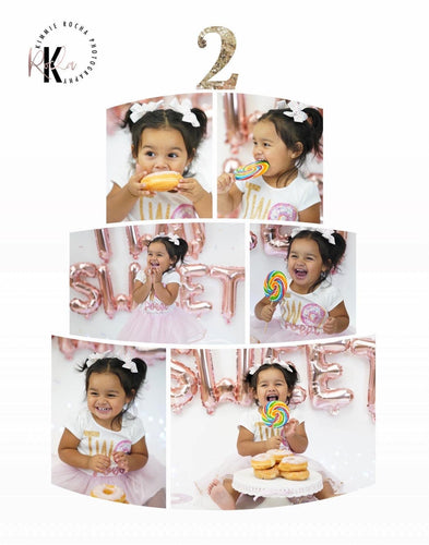 Cake Smash Birthday Cake Templates -  includes 1 template in 3 sizes
