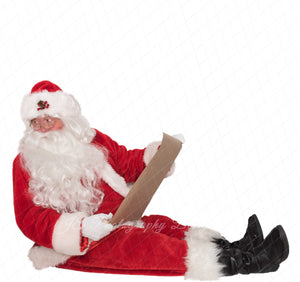 "Santa PNG Overlay ""Looking with Scroll"""
