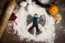 Load image into Gallery viewer, Christmas Cookie Snow Angels Berries, Oranges and Candy Canes -(with 1,2,3 and 4 Snow angels)