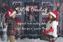Load image into Gallery viewer, Falling Winter Snow overlay - 7 styles of snow overlays .PNG files