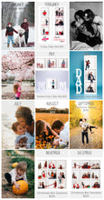 Load image into Gallery viewer, Photography Year Long Planner Grid - 12 Box Collage for Facebook