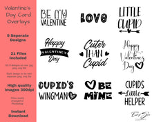 Load image into Gallery viewer, Valentine's Day Word Art Overlays