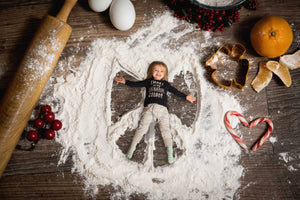 Christmas Cookie Snow Angels Berries And More -  (with 1,2,3 & 4  Snow angels)