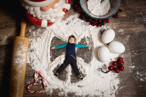Christmas Cookie Snow Angels Berries and Santa -(with 1,2,3 and 4 Snow angels)
