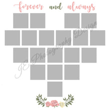 Load image into Gallery viewer, Valentine's Heart White Grid Template - 2 Styles Included