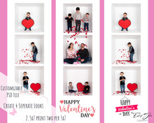 Load image into Gallery viewer, 4 Film Strip Valentines Day Cards