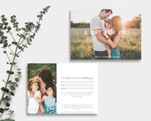 Load image into Gallery viewer, Photography Gift Certificate Template