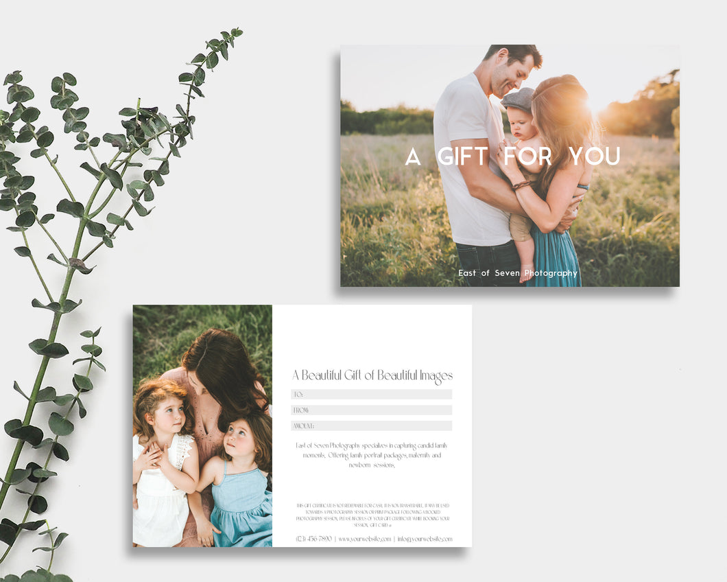 Photography Gift Certificate Template