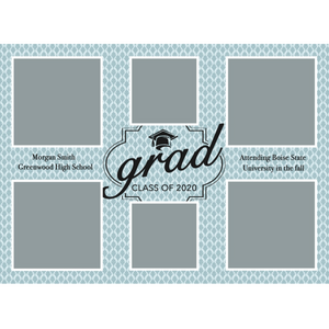 Light Blue 2020 Graduations Announcements 5x7 Card Size