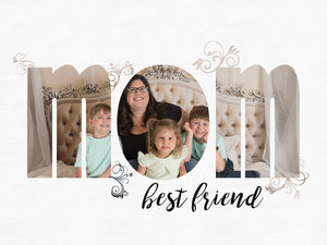 MOM Clipping mask photo template