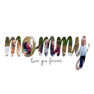 Mommy Mother's Day word art template