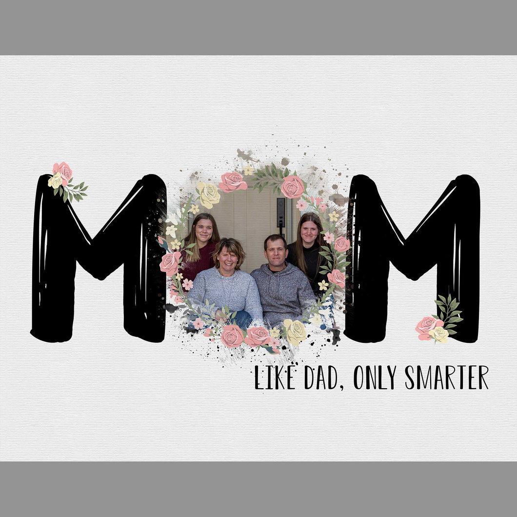 MOM, Like Dad Only Smarter - Mother's Day Template