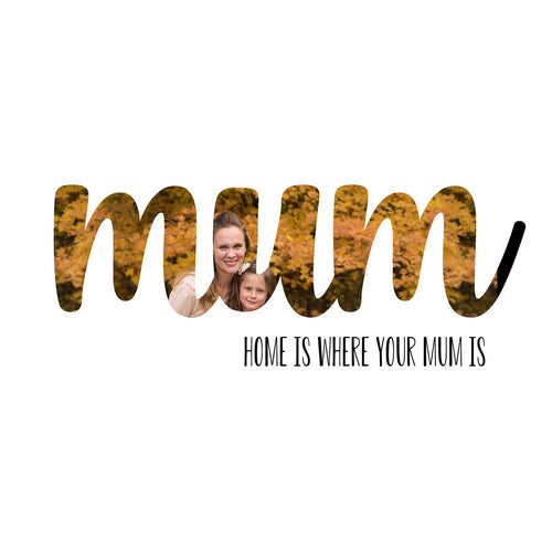 MUM Mother's Day word art template