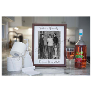 Quarantine Photo frame - Cheers to #stayhome
