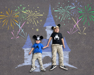 Sidewalk Chalk Castle Background