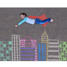 Load image into Gallery viewer, Superman Sidewalk Chalk Digital Backdrop