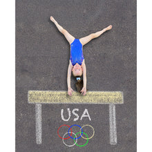 Load image into Gallery viewer, Gymnast Sidewalk Chalk Digital Backdrop