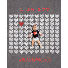 Load image into Gallery viewer, Sidewalk Chalk Heart Warrior Background