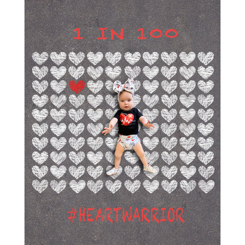 Sidewalk Chalk Heart Warrior Background