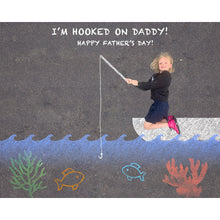 Load image into Gallery viewer, Hooked on Daddy Sidewalk Chalk Digital Backdrop