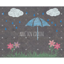 Load image into Gallery viewer, Sidewalk Chalk Rainy Day Theme Background