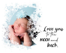 Load image into Gallery viewer, Love you to the Moon and Back - watercolor template