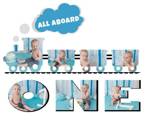 Train Template - Choo Choo look who's Two (and One)