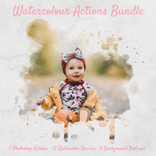 Watercolor Actions & Brushes Bundle