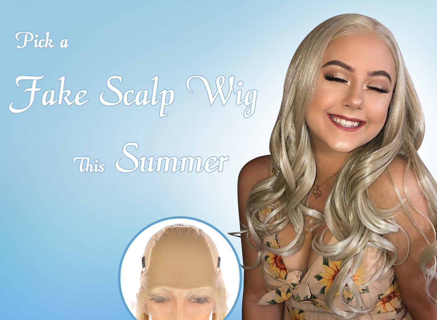 what is fake scalp wig