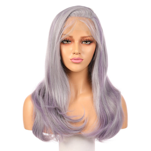 Fashion Full Lace Lilac Highlight Synthetic Wig