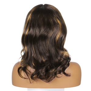 Fake Scalp Synthetic Full Lace Straight Wig Two Tone 2T613# - MILDWILD
