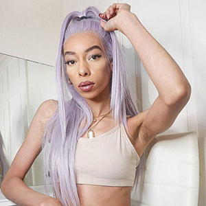 2021 Purple wig for white women