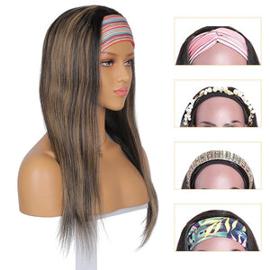 straight headband wig human hair