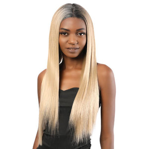 Synthetic Lace Front Wig Long Straight Two Tone Blonde Color 2T103# - MILDWILD