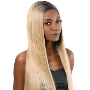 Undetectable Invisible Lace Full Lace Straight Wig Fake Scalp Two Tone 2T103# - MILDWILD