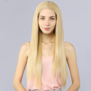 Fake Scalp Synthetic Lace Front Wigs Straight Wig 144 Color Mix 613# - MILDWILD