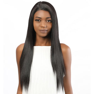Fake Scalp Synthetic Straight lace front wig for black women black wig 2# - MILDWILD