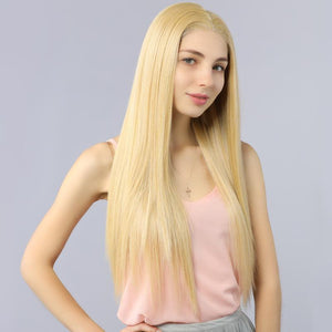 best blonde synthetic lace fornt wig - MILDWILD
